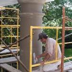 Men on scaffold