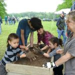 Archaeology dig at Fort Warwick